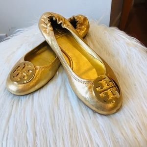 Tory Burch Metallic Ballet Flats